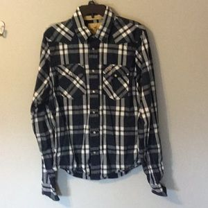 Hollister size xl plaid western style shirt
